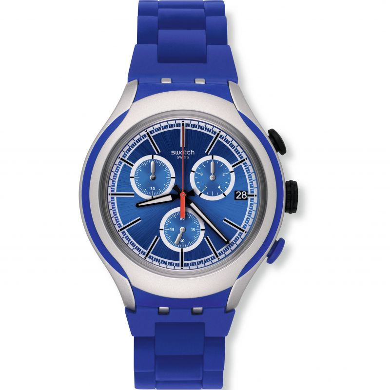 Unisex Swatch Blue Attack Chronograph Watch