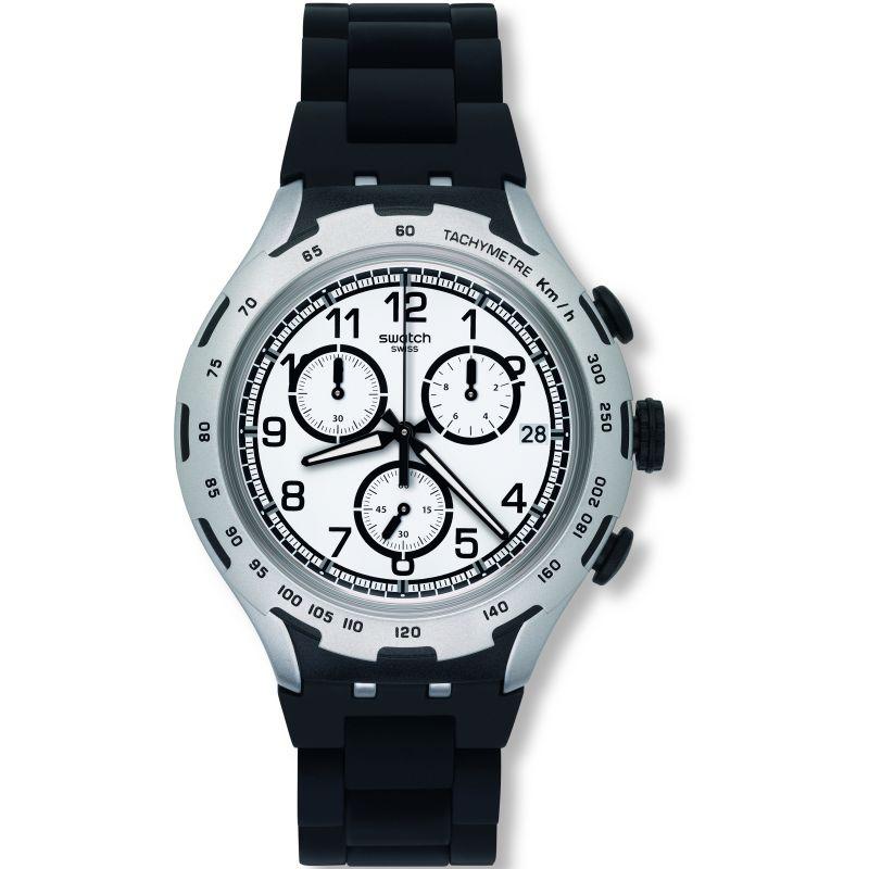 Unisex Swatch Black Attack Chronograph Watch