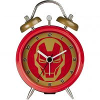 Character Marvel Iron Man Mini Twin Bell Clock Klokhorloge Rood MAR91