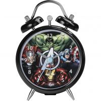 Character Marvel Minnie Twin Bell Alarm Clock Klokhorloge Zwart MAR115