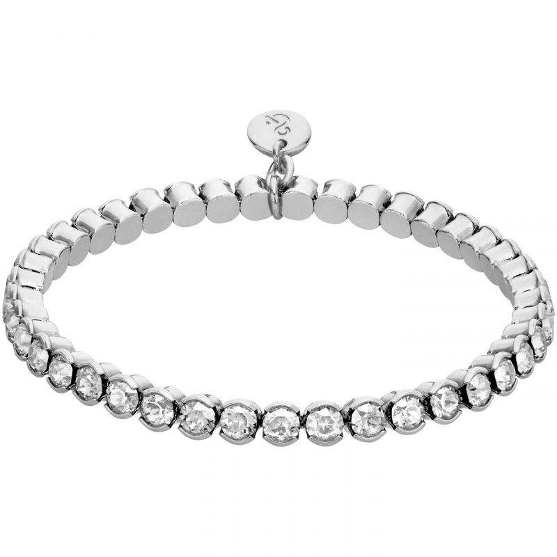 Ladies Lola & Grace Silver Plated Stretch Bracelet 5260371