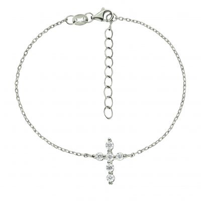Bijoux Femme Folli Follie Fashionably Silver Cross Bracelet 5010.3356