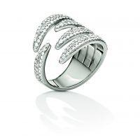 femme Folli Follie Jewellery Fashionably Silver Wrap Sparkle Ring Size L.5 Watch 5045.6018