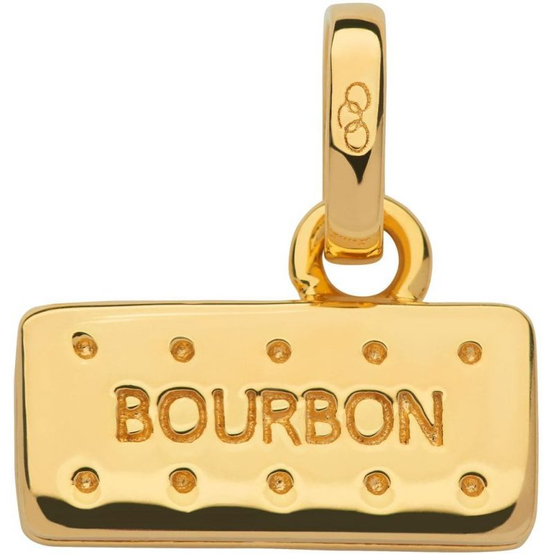 Ladies Links Of London Sterling Silver British Tea Keepsakes Bourbon Biscuit Charm 5030.2536