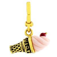 Juicy Couture Dam Little Luxuries Ice Cream Cone Charm Guldpläterad WJW62450-712