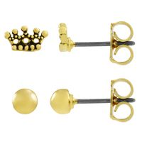 Juicy Couture Dames Crown Expressions Stud Earrings Set Basismetaal WJW62490-712