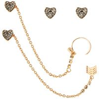 Ladies Juicy Couture Base metal Heart Arrow Luxe Wishes Earrings
