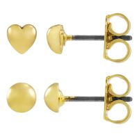 Ladies Juicy Couture Base metal Heart Expressions Stud Earrings Set