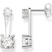 Ladies Thomas Sabo Sterling Silver Glam & Soul Zirconia Stud earrings