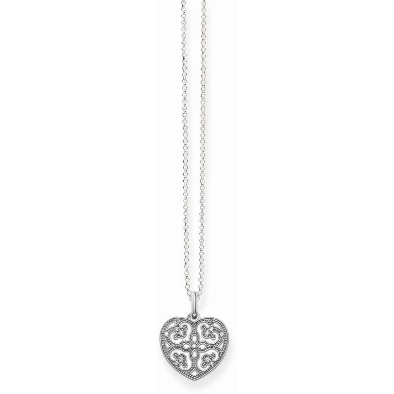 Ladies Thomas Sabo Sterling Silver Glam & Soul Heart Necklace KE1557-051-14-L45V