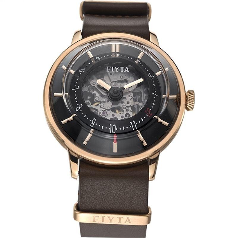 Mens Fiyta 3D Time Skeleton Automatic Watch