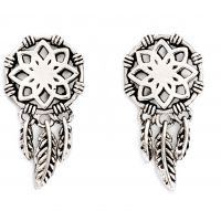 Damen Chrysalis Silber Plated mit Anhänger Dream Catcher Ohrringe