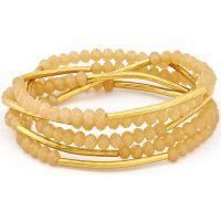 Ladies Chrysalis Gold Plated Peach Blossom Eternity Elasticated Necklace/Bracelet Wrap CRWF0001GP-C