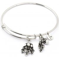 Ladies Chrysalis Silver Plated Spirited Acorn Expandable Bangle CRBT1202SP