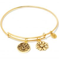 Ladies Chrysalis Gold Plated Friend & Family Daughter Expandable Bangle CRBT0702GP