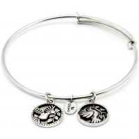 Ladies Chrysalis Silver Plated Protection Serentiy Truth Expandable Bangle CRBT0303SP
