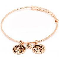 Ladies Chrysalis Rose Gold Plated Happiness Serentiy Wisdom Expandable Bangle CRBT0309RG