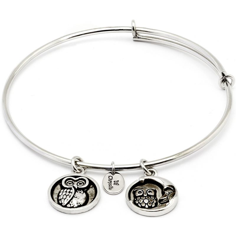 Ladies Chrysalis Silver Plated Happiness Serentiy Wisdom Expandable Bangle CRBT0309SP
