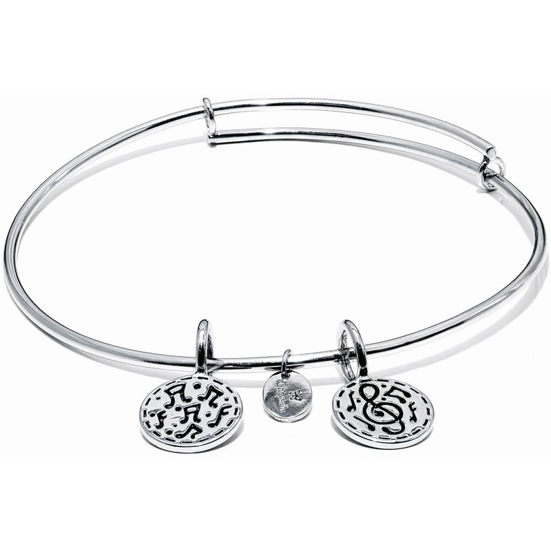 Ladies Chrysalis Silver Plated Happiness Life Festival Expandable Bangle CRBT0005SP