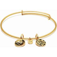 Ladies Chrysalis Gold Plated Love Life Roses Expandable Bangle
