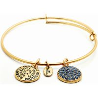 femme Chrysalis Good Fortune September Sapphire Crystal Expandable Bangle Watch CRBT0109GP