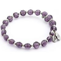 Ladies Chrysalis Silver Plated Happiness Gaia Rainbow Purple Wrap Bangle CRBW0018SPAM