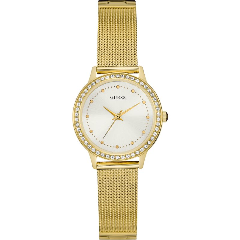 GUESS Ladies gold mesh bracelet watch
