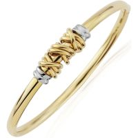 modisch two tone gold bangle