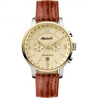 Ingersoll The Grafton Herenchronograaf Bruin I00603