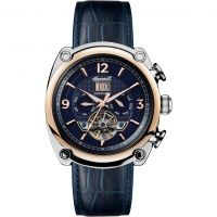 Ingersoll The Michigan Multifunction Herenhorloge Blauw I01101
