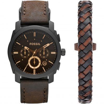 Mens Fossil Machine Gift Set Chronograph Watch FS5251SET
