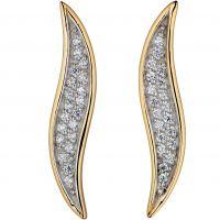 femme Fiorelli Jewellery Wave Stud Earrings Watch E5195C