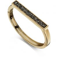 Ladies Fiorelli Gold Plated Pave Bangle