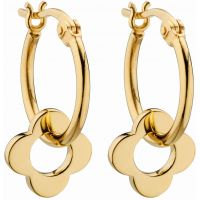 Ladies Orla Kiely Sterling Silver Flower Hoop Earrings