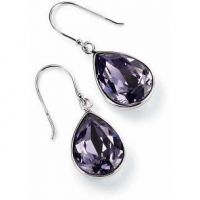 Elements Dames Crystal Tear Earrings Sterling Zilver E3347M
