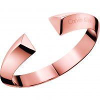 Ladies Calvin Klein PVD rose plating Size Medium Shape Bangle KJ4TPD10010M