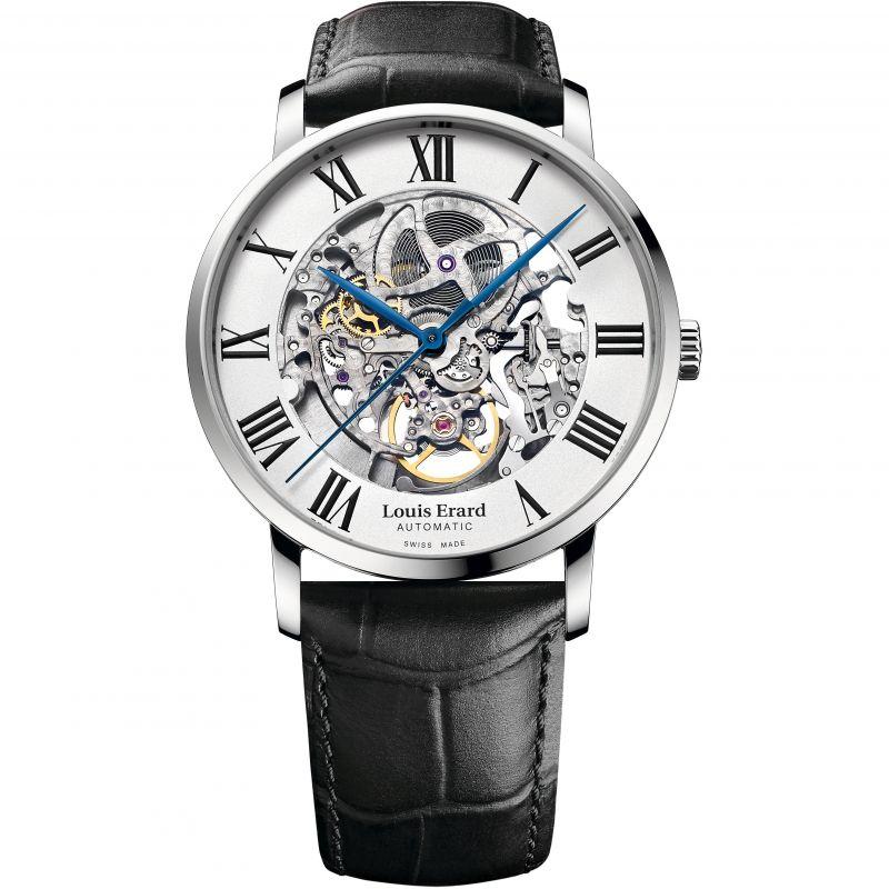 Mens Louis Erard Excellence Skeleton Automatic Watch