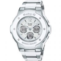 femme Casio Baby-G Alarm Chronograph Watch MSG-300C-7B3ER