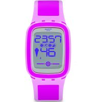 Unisex Swatch Pinkzero Alarm Chronograph Watch