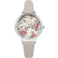 Cath Kidston Kingswood Rose Nude Leather Strap Damklocka Naturvit CKL001PS