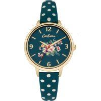 femme Cath Kidston Briar Rose Green Polka Dot Strap Watch CKL004NG