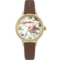 Cath Kidston Cowboy Brown Leather Strap Damklocka Brun CKL006TG