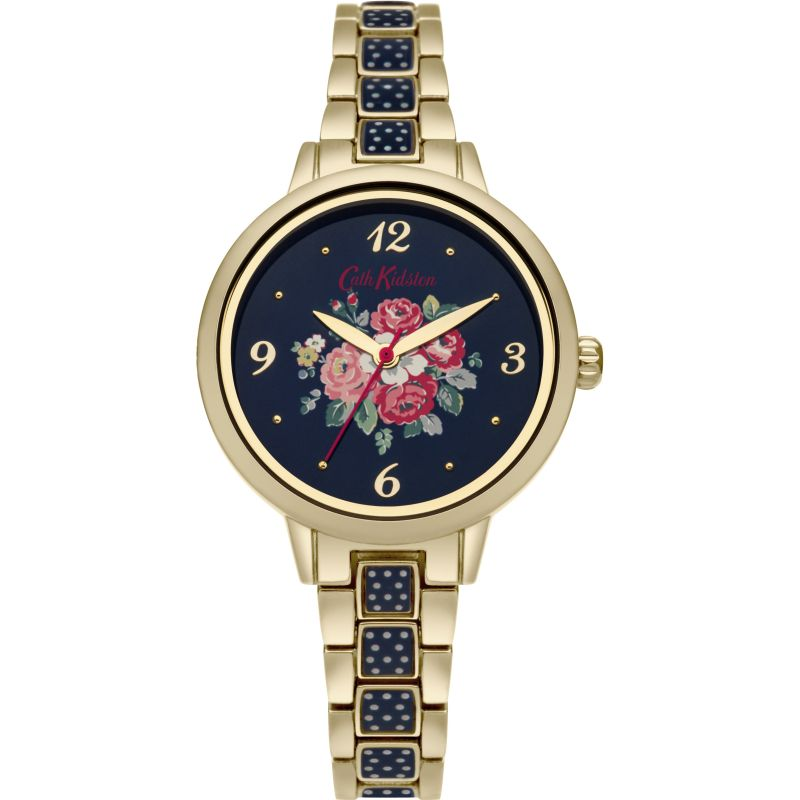 Damen Cath Kidston Forest Bunch Navy Spot Bracelet Watch CKL008UGM