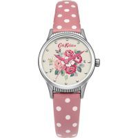Ladies Cath Kidston Forest Bunch Pink Spot Strap Watch