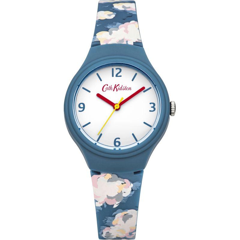 Damen Cath Kidston Mini Clouds Silicone Strap Watch CKL023N