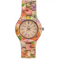 Unisex Wewood Criss Blume Uhr