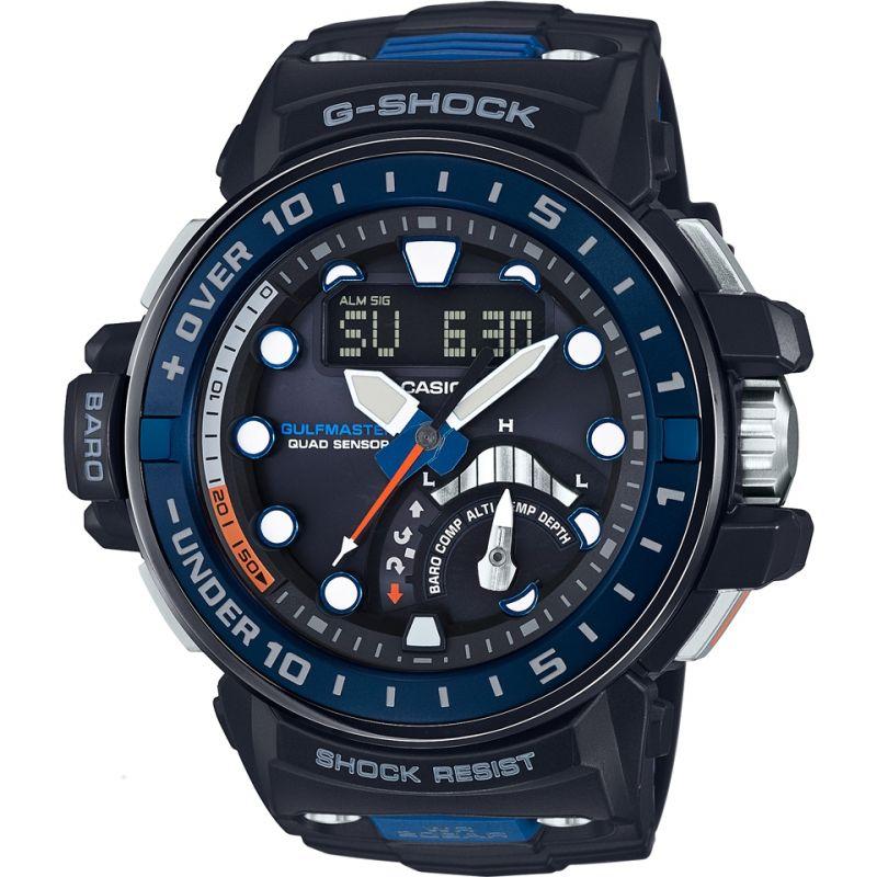 Mens Casio G-Shock Gulfmaster Quad Sensor Alarm Chronograph Radio Controlled Watch