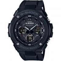 homme Casio G-Steel Alarm Chronograph Radio Controlled Tough Solar Watch GST-W100G-1BER
