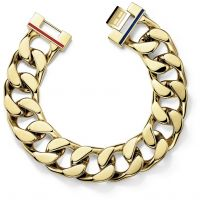 Mens Tommy Hilfiger Gold Plated Bracelet 17cm Wrist 2700702