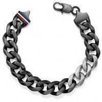 Herren Tommy Hilfiger Schwarz ionenbeschichteter Stahl Armband